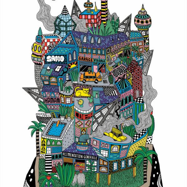 Affiche La ville sur le rocher